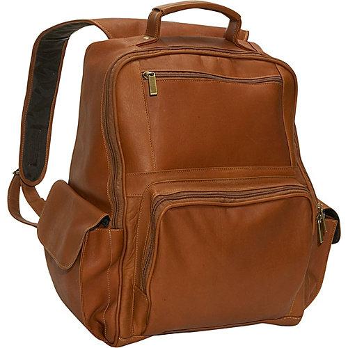 Large Backpack w Computer Padded Section & Nylon Back Panel (Cafe)