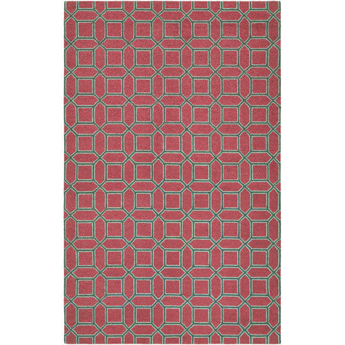 Couristan Bowery Havemeyer Rug In Crimson-Brown - (2 Foot x 4 Foot)