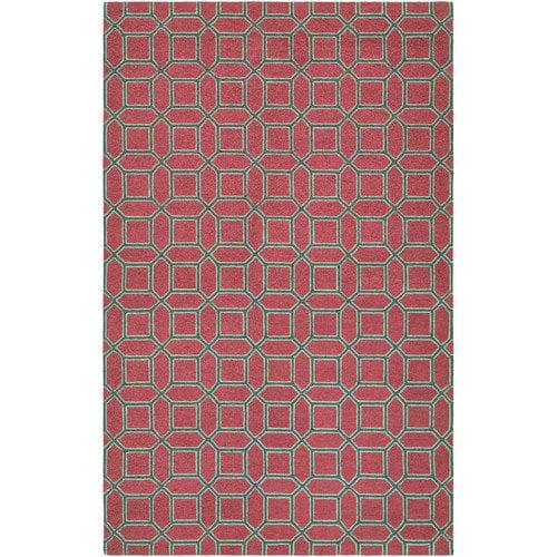 Couristan Bowery Havemeyer Crimson/Brown Area Rug