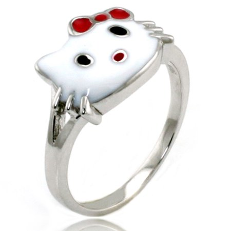Sterling Silver Hello Kitty Gloss Promise Ring