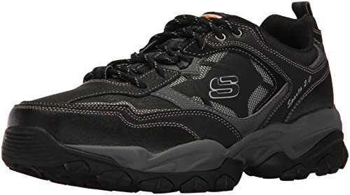52700 W Wide Fit Black Skechers Shoe Men Memory Foam Sport Train Comfort Sneaker by Skechers