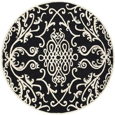 Safavieh Soho  Round Rug in Black / Ivory ()