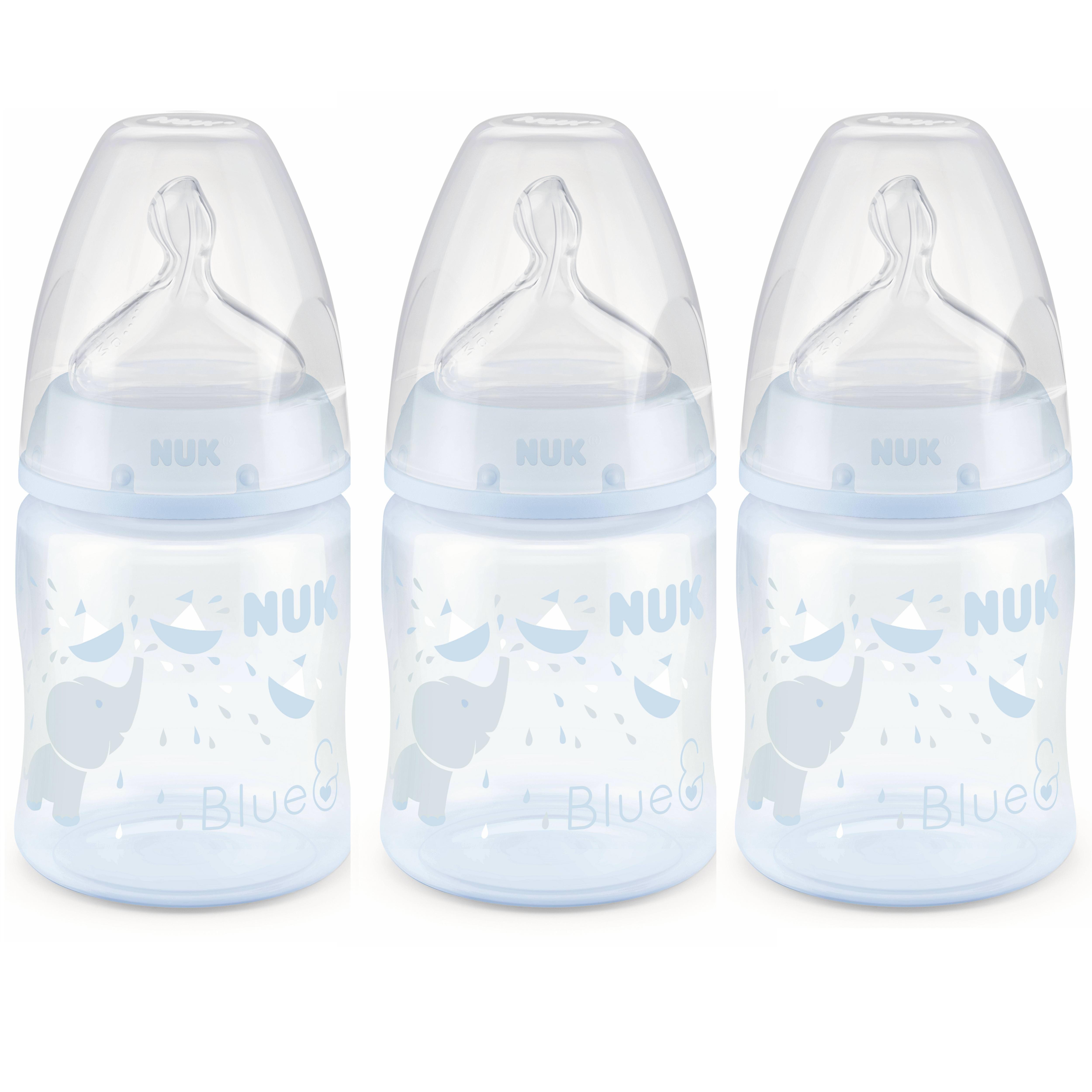 NUK Perfect Fit Bottle 5 oz, 3pk, Elephant
