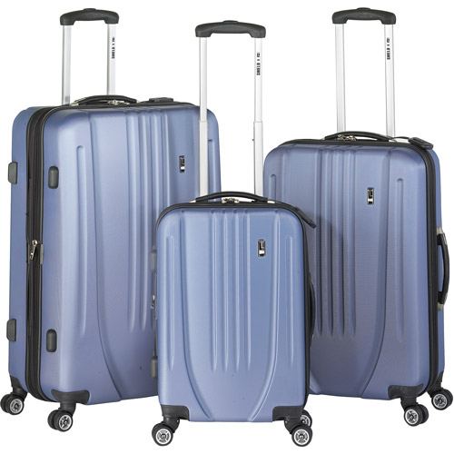 Travel Concepts Shield Collection 3-Piece Luggage Set, Metallic Blue