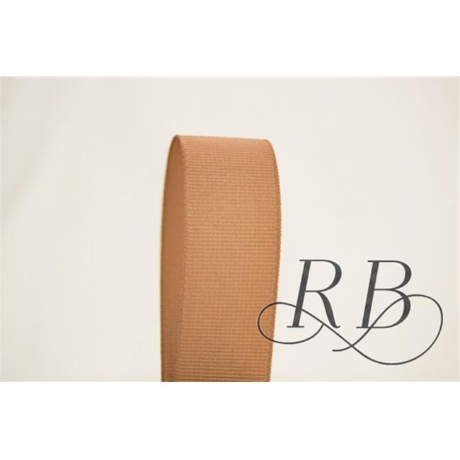 Ribbon Bazaar 3941 0.25 in. Solid Grosgrain Ribbon, Natural - 50 Yards