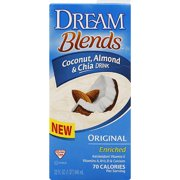 Dream Blends Original Coconut, Almond & Chia Drink, 32 fl oz, (Pack of 6)