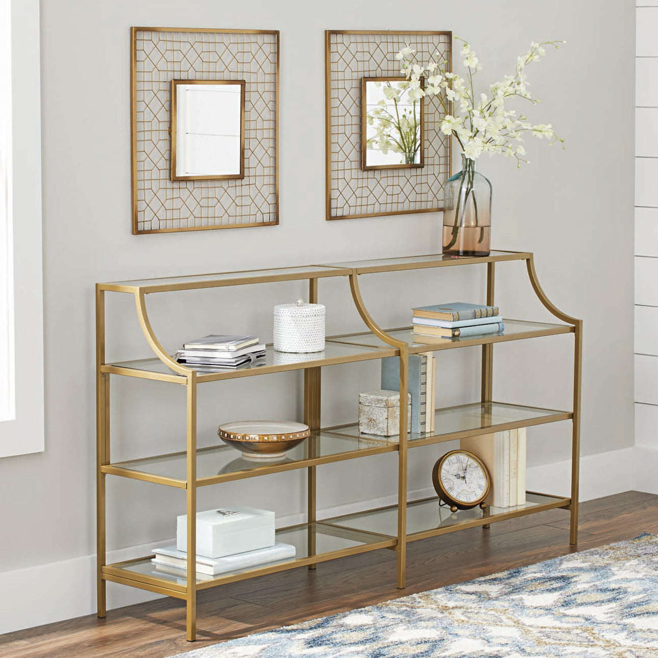 Better Homes and Gardens Nola Console Table, Gold Finish by Sauder