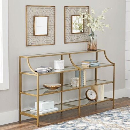 Console 4 Rack - Better Homes & Gardens Nola Console Table, Gold Finish
