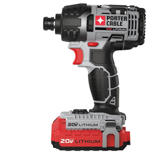 Factory-Reconditioned Porter-Cable PCCK640LBR 20V MAX Cordless Lithium-Ion 1/4 in. Hex Impact Driver (Refurbished)