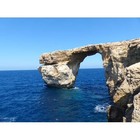 LAMINATED POSTER Malta Blue Window Rock Formation Cliff Rock Gozo Poster Print 24 x 36