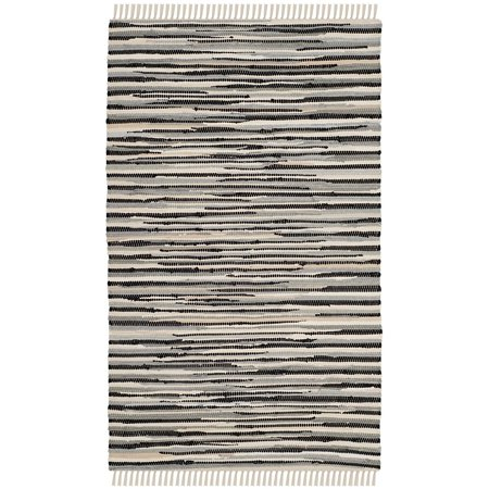 Safavieh Rag Rug Collection Rar129q Hand Woven Black And Multi Cotton Area 2 6 X 4