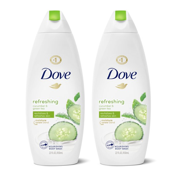 Dove Refreshing Body Wash Cucumber And Green Tea 22 Oz 2 Count Walmart Com Walmart Com