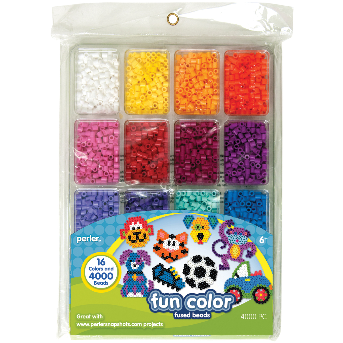 Perler Fun Fusion Beads, 4000-Pack, Fun Color