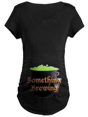 CafePress - Halloween Something Brewing Maternity Dark T Shirt - Maternity Dark T-Shirt