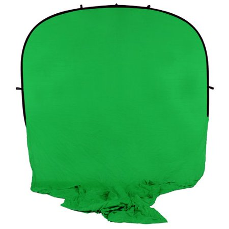 Fotodiox Pro Collapsible Portable Backdrop Kit with 2.1m Stand, 8x14ft Muslin Chromakey Green Background