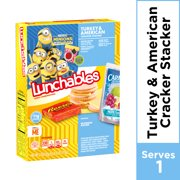 Lunchables Lunch Combinations Turkey & American Cracker Stackers, 8.9 oz Box