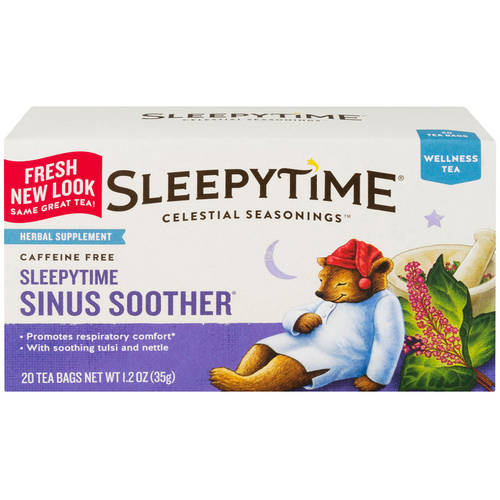 Celestial Seasonings Sleepytime Sinus Soother Wellness Tea, 20ct
