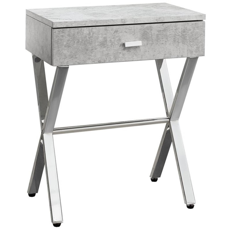 Pemberly Row Accent Nightstand in Gray Cement