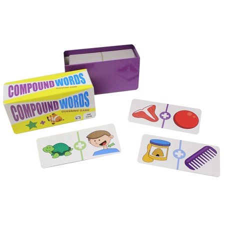 Compound Words Guessing Game Puzzles - Language Arts Teacher Supply - Language Arts Teacher Supply - Teacher Language Arts Supplies - Spelling Writing Activity
