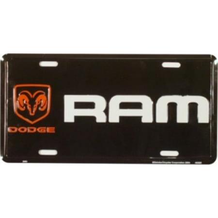 Dodge Ram Black Background License - Ram License Plate