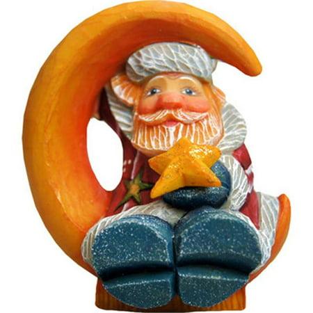 GDeBrekht 63148 Santa On Moon Figurine Ornament