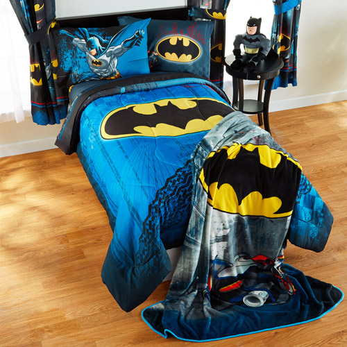 batman 'guardian speed' twin/full bedding comforter - walmart