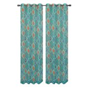 Olina Printed Sheer Grommet Curtain Panel