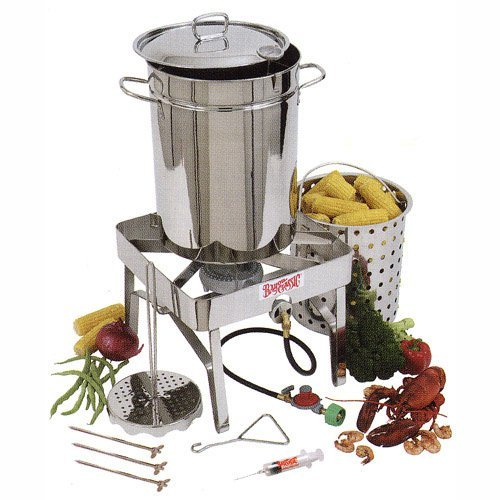 Bayou Classic Complete Stainless Steel Turkey Fryer Kit - 32 qt.