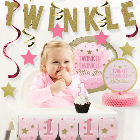 One Little Star Girl 1st Birthday Party Decorations Kit](Little Girls Birthday Themes)
