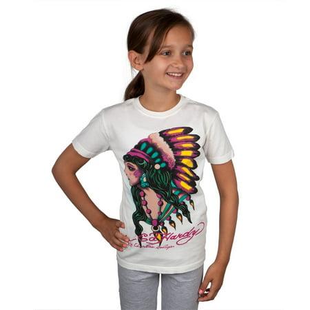 Ed Hardy - Native American Women Girls Youth T-Shirt - Native Girls