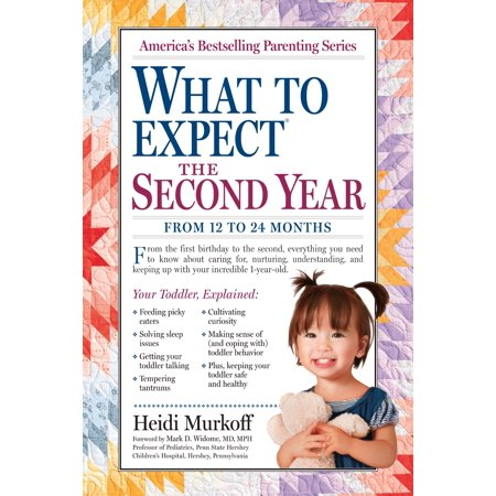 What to Expect the Second Year - Paperback This essential sequel to  What to Expect the First Year  picks up the action at baby's first birthday, and takes parents from the 13th to the 24th month of a toddler's life. The book is filled with solutions, strategies, and plenty of parental pep talks.