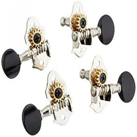 Grover 9NB Sta-Tite Ukulele Tuners, Nickel with Black (Nickel Tuners)