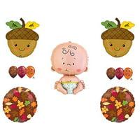 FALL LEAVES BABY ACORN SHOWER Balloons Decoration Supplies Pumpkin Autumn
