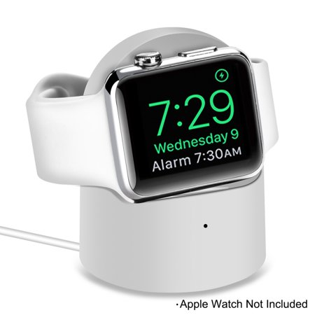 Charging Station for Apple Watch IWatch,With Built-in Watch Charger, Magnetic Absorption Induction for Apple Watch Series 4/3/2/1 Feature:Widely CompatibleThe charger uses magnetic charging module; Compatible with all Apple watch 44mm 42m 40mm 38mm models; Apple Watch Series 4 3 2 1, Apple Watch Nike+, Apple Watch Hermes, Apple Watch Edition.Built-in Watch Charger With built-in watch charger, do not need to another watch charger to make that more convenient and friendly.Smart & Safe The magnetic watch charger built-in an upgraded smart chip with over current, over voltage, short circuit, foreign object detection and over temperature protection to make charging safer and more secure.Lightweight & CompactThe mini watch charger compatible for Apple watch is lightweight and compact for carrying and storing easily, making it convenient to charge your watch anywhere and anytime. Its a good choice for home, office, travel and more.Compatibility:For Apple Watch Series 4: Apple Watch, Apple Watch Sport, Apple Watch Edition.For Apple Watch Series 3: Apple Watch, Apple Watch Nike+, Apple Watch Hermes, Apple Watch Edition.For Apple Watch Series 2: Apple Watch, Apple Watch Nike+, Apple Watch Hermes, Apple Watch Edition.For Apple Watch Series 1: Apple Watch, Apple Watch Nike+, Apple Watch Hermes, Apple Watch Edition(ALL38mm 40mm 42mm 44mm Version)Specification:Material: ABS+PCInput: 5V/1AOutput: 5V/0.4A (2W)Working Frequency: 100205 KHzCharging Distance: 3~6mmProduct Size: 5.1xH6.5cmNet Weight: 59g
