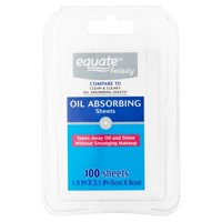 Equate Beauty Oil Absorbing Sheets, 100 ct