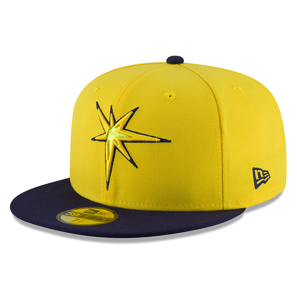 Tampa Bay Rays New Era Youth 2018 Players' Weekend On-Field 59FIFTY Fitted Hat - Yellow/Navy