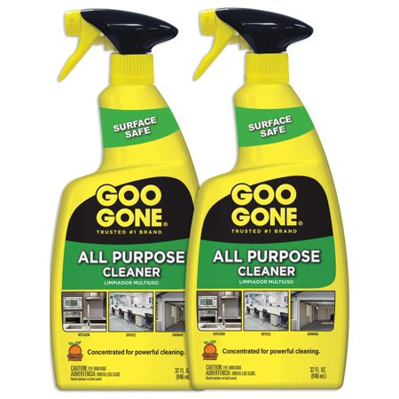 Goo Gone All Purpose Cleaner Spray (2 Pack) - Home Degreaser - Removes Dirt, Grease, Grime - 32 Ounce