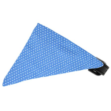Baby Blue Swiss Dots Bandana Pet Collar Black Size - Toddler Swiss Dot