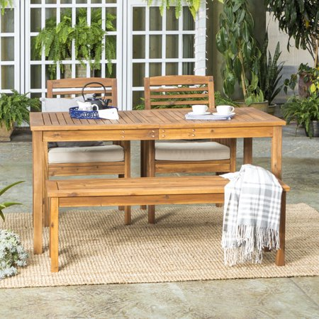Manor Park Solid Wood 4-Piece Outdoor Patio Dining Set - Brown ()