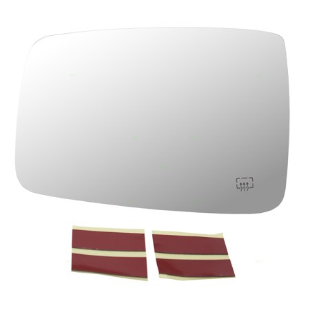 Drivers Side View Mirror Glass Heated w/ Adhesive Strips Replacement for 11-18 RAM 1500 2500 Pickup Truck