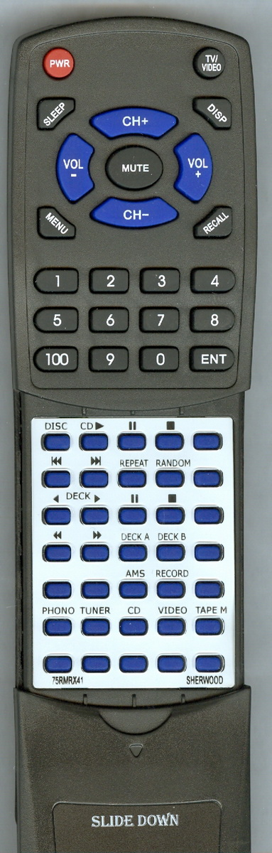 Replacement Remote for SHERWOOD 75RMRX41, RT75RMRX41, RMRX41, RX4010R by Redi-Remote