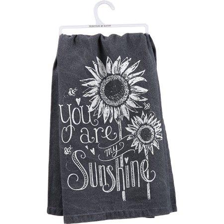 YOU ARE MY SUNSHINE Tea Towel, 100% Cotton, Primitives by Kathy