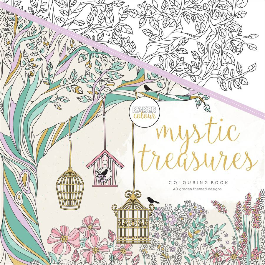 KaiserColour Perfect Bound Coloring Book, Mystic Treasures