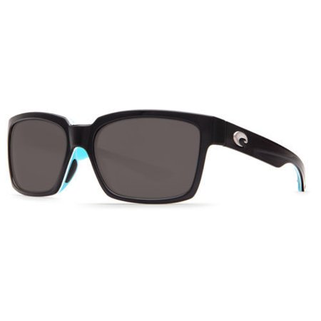 Costa Del Mar PY 87 OGP Playa Black-White-Aqua Frame/Gray Lens (Costa Playa Sunglasses)