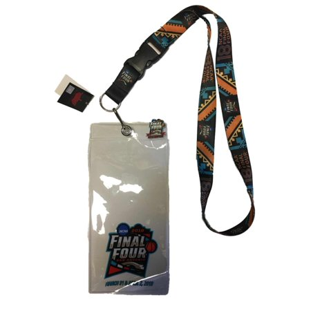 Final Four Tickets (2018 NCAA Final Four March Madness San Antonio Ticket Holder Lanyard & Pin Set)
