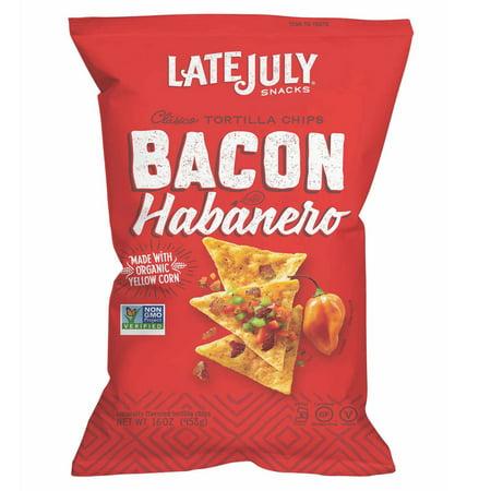 - Late July Snacks Bacon Habanero Tortilla Chips, 16 oz.