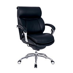 Bonded Leather Writing (Serta® iComfort i5000 Series Bonded Leather Mid-Back Managerial Chair, Onyx)