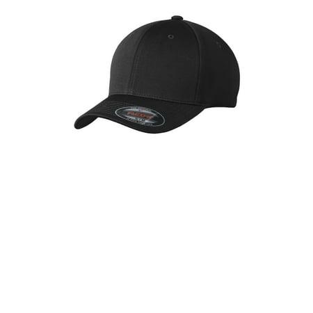 Poly Mesh Cap - Sport-Tek STC22 Flexfit Cool & Dry Poly Block Mesh Cap, Black, S/M