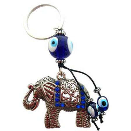 Elephant Key - Women Accessories Keychain Glass Evil Eye Keep Your Keys Safe Elephant Watcher