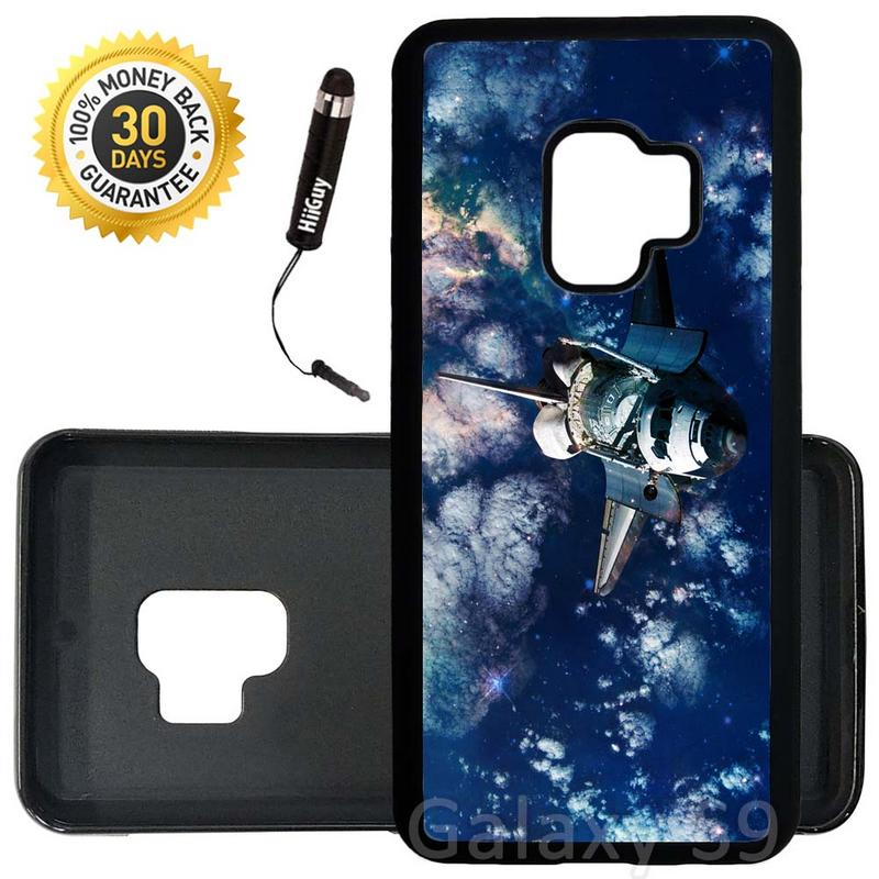Custom Galaxy S9 Case (Space Shuttle Earth) Edge-to-Edge Rubber Black Cover Ultra Slim | Lightweight | Includes Stylus Pen by Innosub